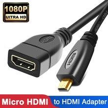 1080P Micro HDMI Adapter Micro HDMI Male to HDMI Female Cable Connector Converter HDMI Extender for Notebook HDTV HDMI Micro