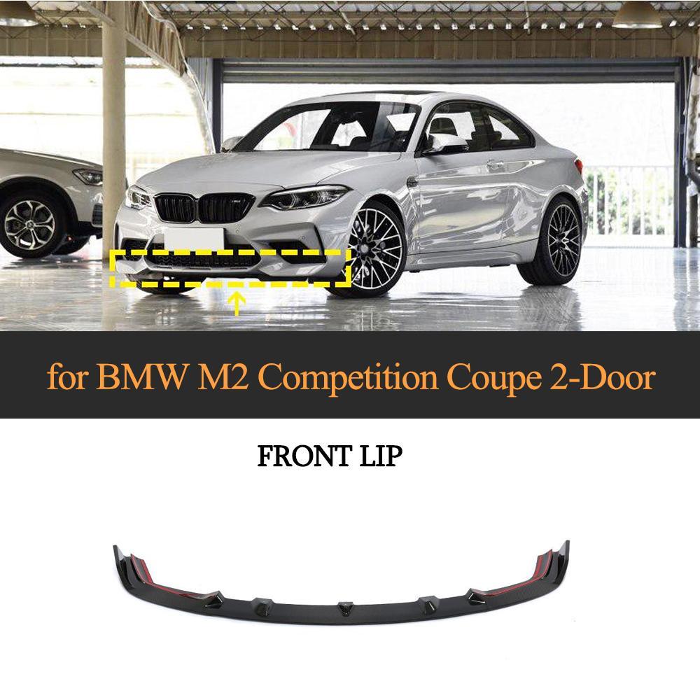 Front Lip For BMW F87 M2 Competition Coupe 2 Door 2018   2020 Carbon Fiber Car Front Bumper Lip Sitters|Bumpers| |  - title=