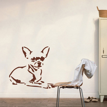 Cartoon Chihuahua Dog Wall Decal Kids Room Living Room Puppy Pet Dog Animal Wall Sticker Baby Nursery Vinyl Home Decor LW260