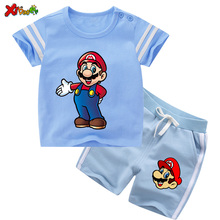 Baby Boy Clothing Set Summer T-Shirt Cartoon Children Suit for Kids Outfit Cotton Toddler Clothes Children Clothing Costume Girl summer baby toddler girl clothes t shirt skirts kids clothes sports suit for girls clothes 2pcs set children clothing 3 7 year