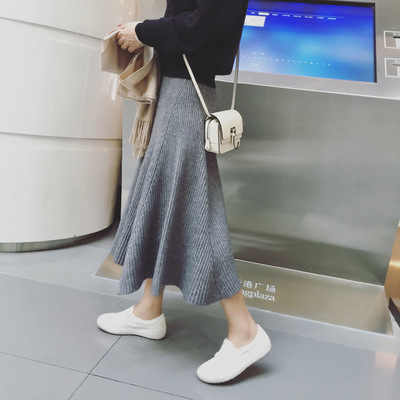 Nieuwe zwangerschap kleding Gebreide moederschap rokken voor zwangere vrouwen koreaanse Mode geplooide hoge taille rokken moederschap PT1201