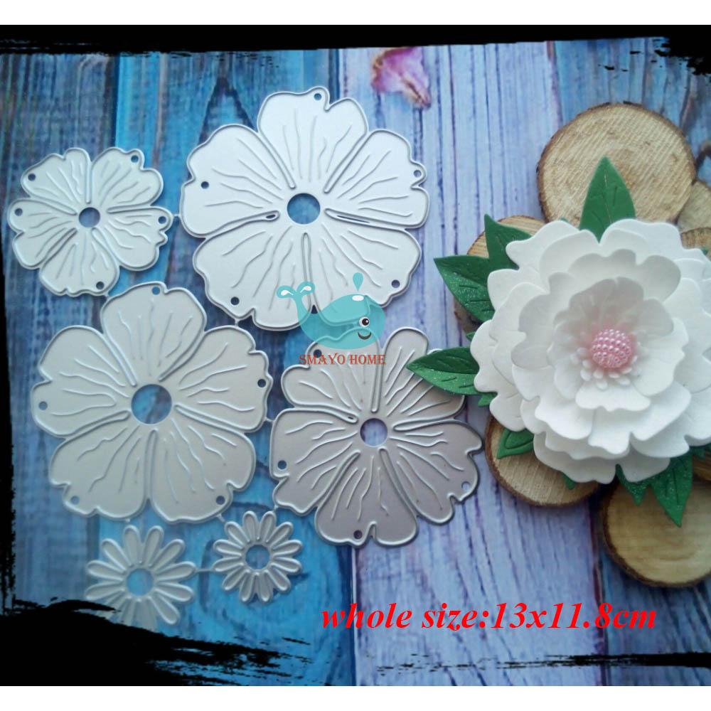 3D Flower Craft Metal Cutting Dies Cut Die Cute Scrapbooking Paper Card Craft Embossing Die Cuts2019