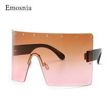 Fashion Oversized Mask Sunglasses Women Windproof Glasses One Piece Big Frame Go