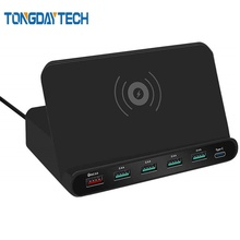Tongdaytech 60W Qi Wireless Charger For Iphone 11 X XS MAX Multi USB Cargador Quick Charge 3.0 Fast Chargeur Samsung S9 S8