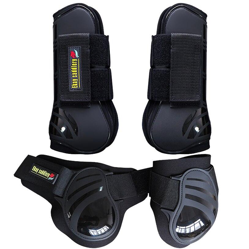 Конные сапоги для поврежденного сухожилия. PU Жесткий корпус с Неопреновая подкладка. Лошадь Прыжки защиты сапоги (AC7035 & 7036)