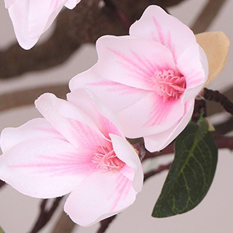 1pc Artificial Flower Wedding Decors Simulation Vine Cane Magnolia Silk Fake Flowerstrip