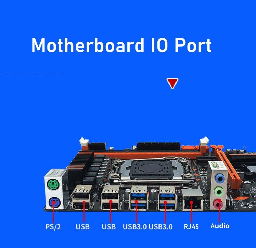 X99 DDR4 Motherboard Slot LGA2011-3 USB3.0 NVME M.2 SSD Support DDR4 Memory And Xeon E5 V3 Processor D4 RAM 5