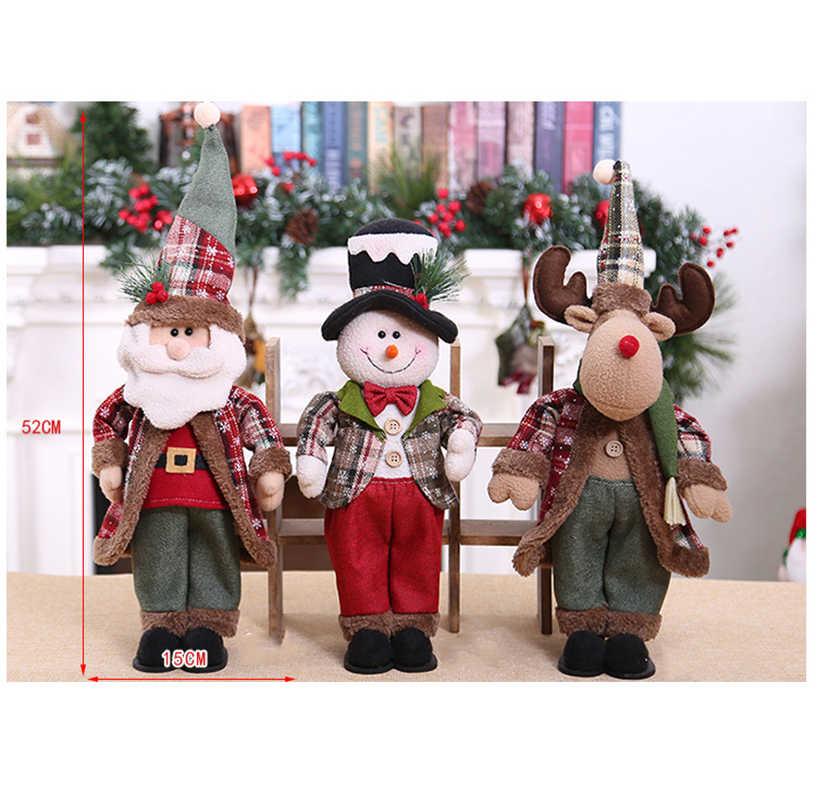Decoração de natal Bonito Bonecas Decoração Do Partido Da Árvore de Natal de Papai Noel Pendurado Sock Presente 2020 Ano NOVO Crianças Presentes Da Árvore de Natal ornamento