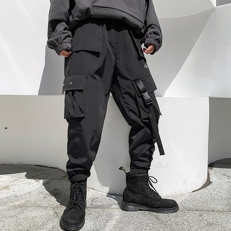 iiDossan 2020 Multi Pockets Cargo Pants Men Casual Joggers Men Harajuku Streetwear Trousers Hip Hop Pants Techwear Hot Sale