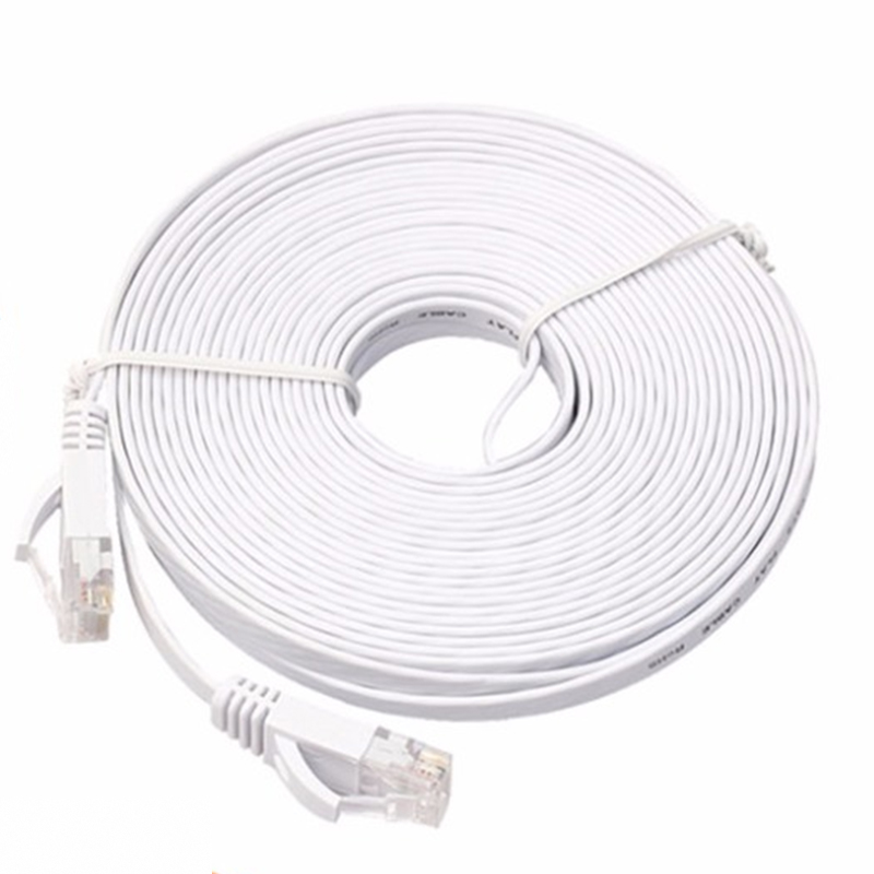 Cat 6 Ethernet Cable 10m/15m/20m RJ45 High Speed Network Cable Patch Cord Router For Computer Laptop
