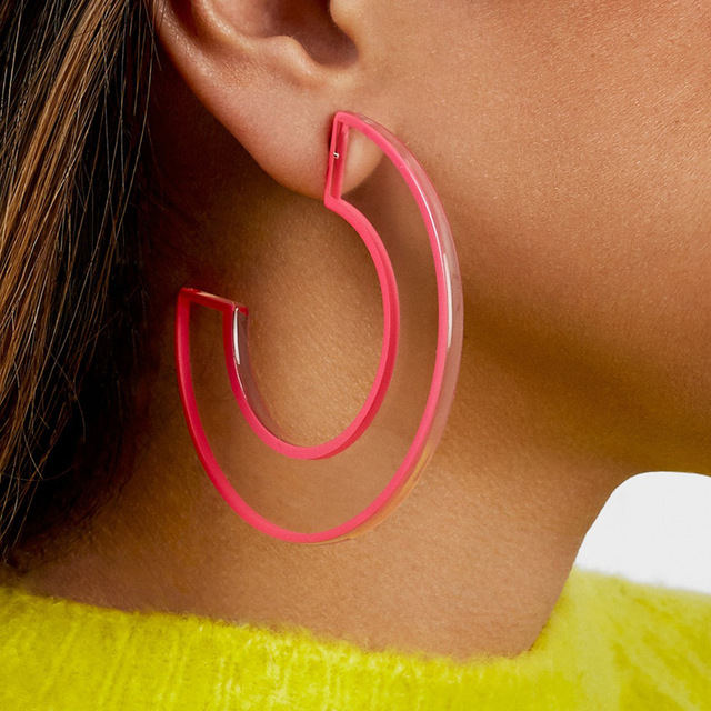 C-pop Trendy  Personality C Acrylic Earrings