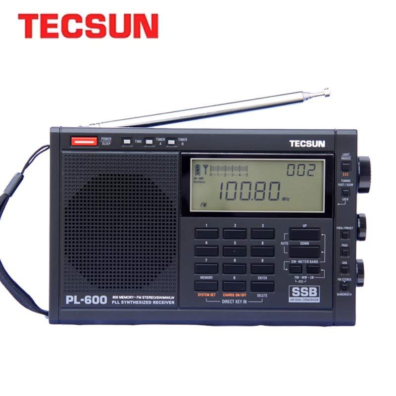 Цифровой тюнинговый радиоприемник TECSUN PL-600, Полнодиапазонный FM/MW/SW-SSB/PLL, синтезированный стерео радиоприемник (4xAA) PL600, портативное радио