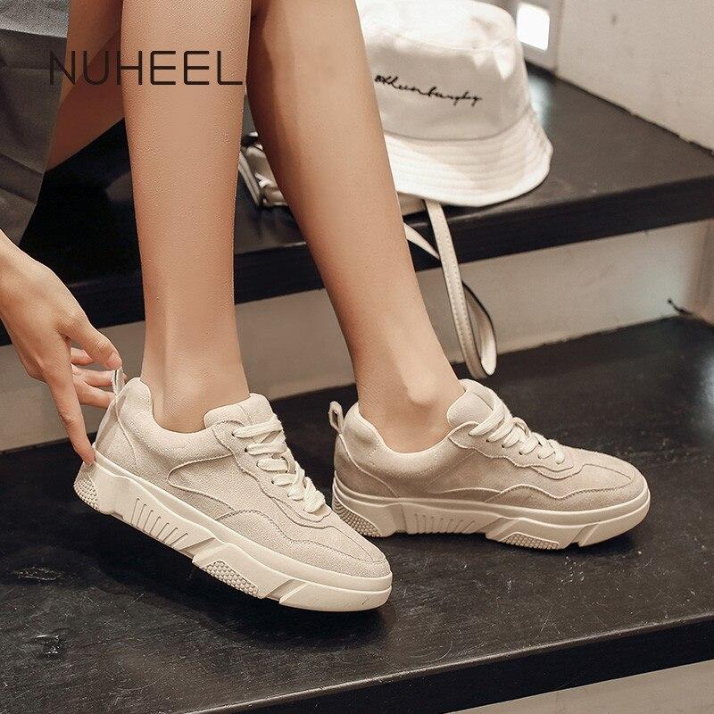 NUHEEL Women's Shoes Comfortable Wild Fashion Korean Casual Shoes Spring New Students Flat Thin Shoes кроссовки для женщин