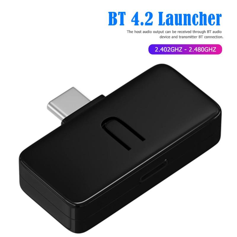 <font><b>Bluetooth</b></font> audio adapter TYPE-C interface luetooth 4,2 sender für PC/PS4/N-Schalter Drahtlose Musik Audio Typ -C Transmitte image