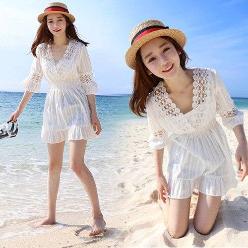 Sanya Beach Skirt Summer 2018 New Style Seaside Skirt Short Skirt Dress Island Holiday Skirt South Korea Fairy