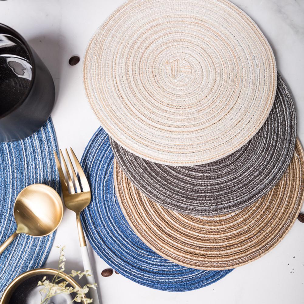 Круглая термоизолированная подставка из хлопчатобумажной пряжи ручной работы, коврик для чашек, декоративная подставка для обеденного стола, чаши, кофейные чашки, подставка, коврик для посуды|Коврики и подложки| | АлиЭкспресс