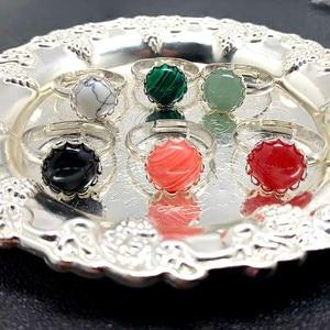 Модная обувь на каблуке 10 мм натуральный камень ювелирное изделие, кольца для женщин Опал розового цвета с украшением в виде кристаллов кольца с настоящими Австрийскими кристаллами Регулируемый ювелирные изделия кольцо набор|Кольца|   | АлиЭкспресс