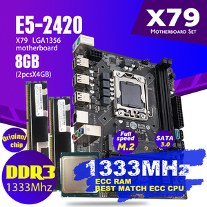 Image 2 - Atermiter X79 1356 Motherboard Set With Xeon LGA 1356 E5 2420 C2 Cpu 2pcs x 4GB = 8GB 1333MHz DDR3 ECC REG Memory Ram PC3 10600