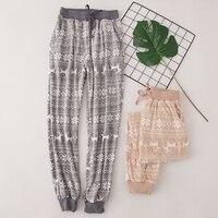 Winter Fleece Warm Women Pajama Pants Fashions Printed Flannel Home Sleeping Bottoms Ladies Loose Homewear Nightwear Trousers