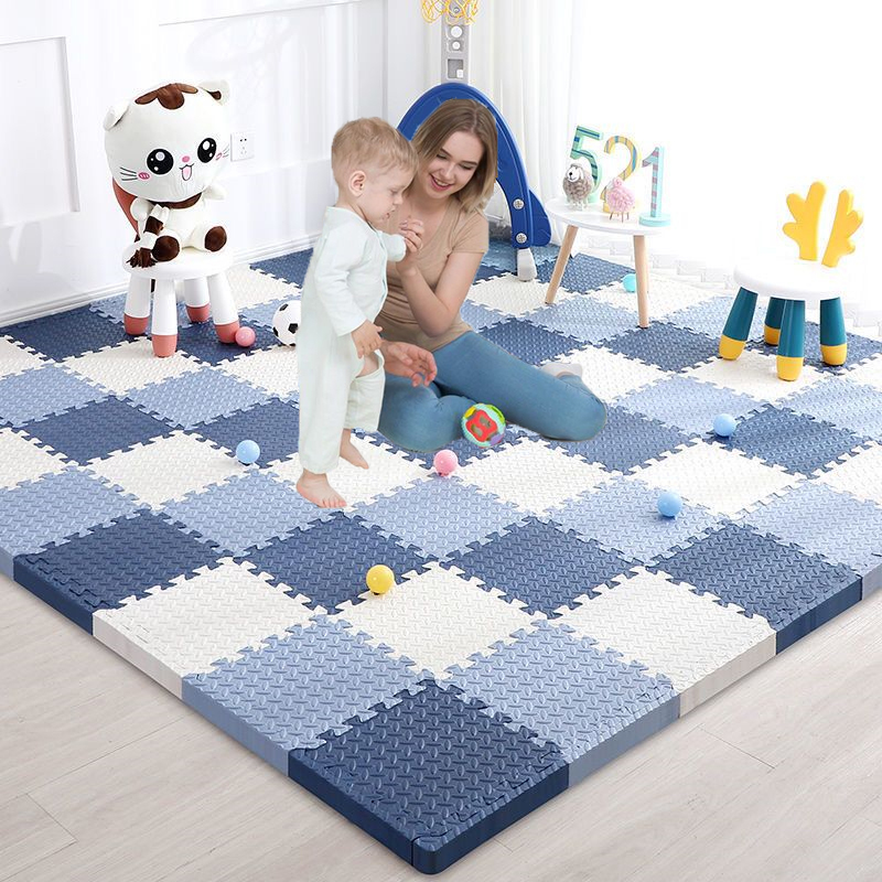2020 NEW Baby Foam Crawling Mat Children EVA Educational Toys Kids Soft Floor Game Mat Chain Fitness Brick Gym Game Carpet 1cm
