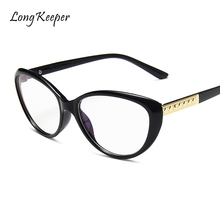 2020 Retro Oversized Cat Eye Glasses Frame Women Optical Prescription