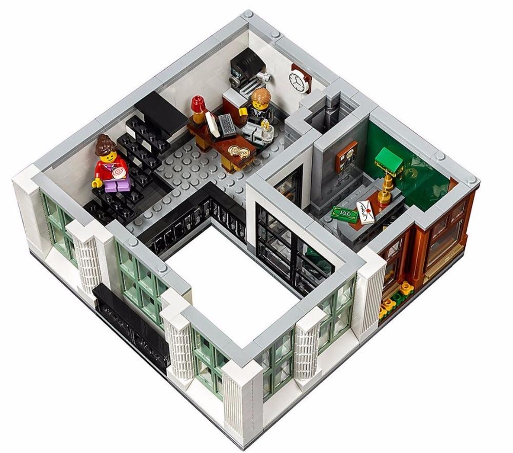 15001 Brick Bank Creator Series City Legoinglys Street Model 2413pcs Building Blocks Bricks Toys 10251 Gift For Children 7