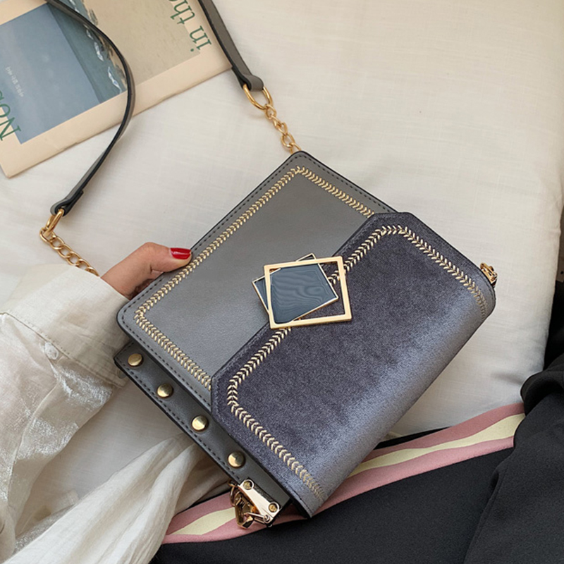 Scrub Leather Small Crossbody Bags For Women 2020 Fashion Chain Designer Shoulder Bag Sac A Main Female Handbags And Purses