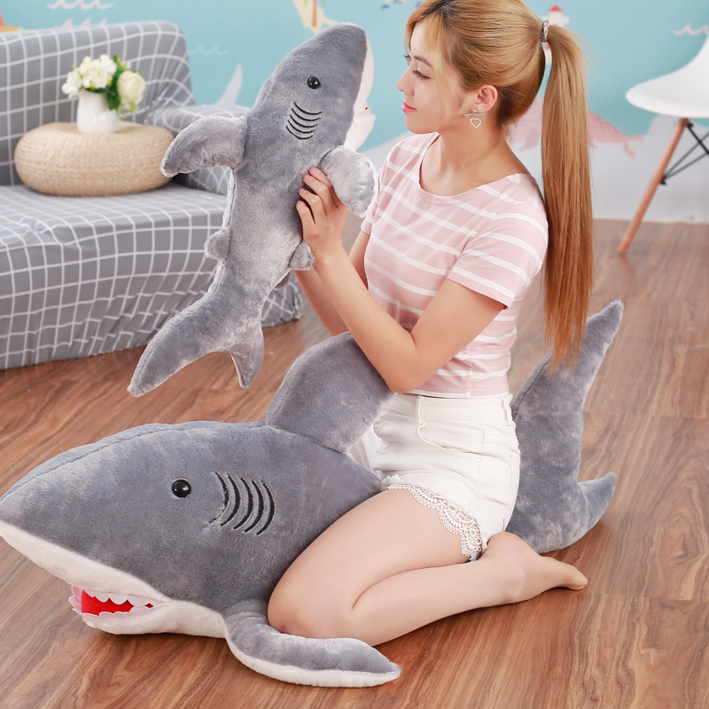 Shark Cushion Soft Toy Xmas Gift Huge Cute Stuffed Animal Plush Doll Pillow 50cm