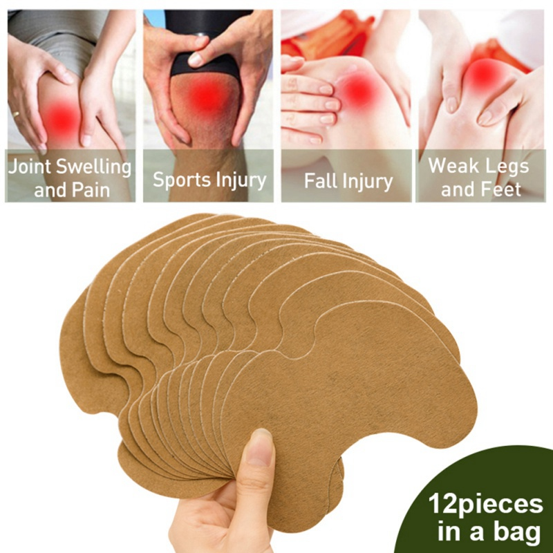 Wholesale 12Pcs/Bag Wormwood Extract Knee Joint Ache Pain Relieving Patch Knee Patch Body Care Set P1