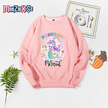 New Shelves Kid Long Sleeve Childrens Clothing Autumn Winter Fashion Top Mermaid Print Kids Sweatshirts Pullover Bluza Chlopieca