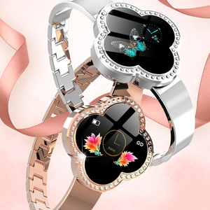 Image 5 - elegant smartwatch women phone fitness tracker Rose gold android watch relogio inteligente montre connect health wristband