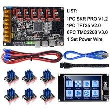 BIGTREETECH SKR PRO V1.2 32Bit kontrol panosu + TFT35 V2.0 + TMC2130 SPI TMC2208 TMC2209 Uart 3D yazıcı parçaları skr V1.4 MKS GEN L