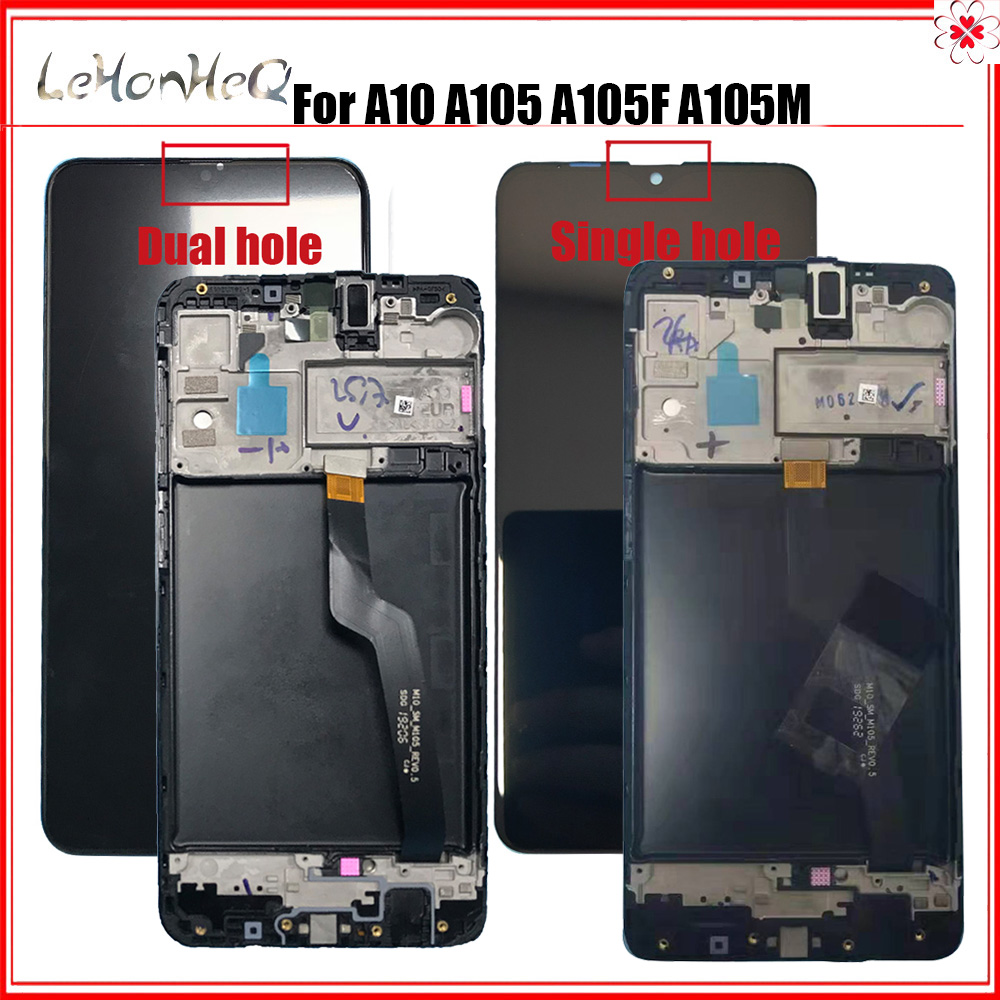 AAA+ Quality For <font><b>Samsung</b></font> Galaxy <font><b>A10</b></font> A105 A105F SM-A105F <font><b>LCD</b></font> Display With Touch <font><b>Screen</b></font> Digitizer With Frame image