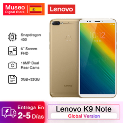 Global version Lenovo K9 Note Smartphone 3G 32G 6.0 inch Snapdragon 450 Octa Core Face ID Android 8.1 16MP camera 3760mAh