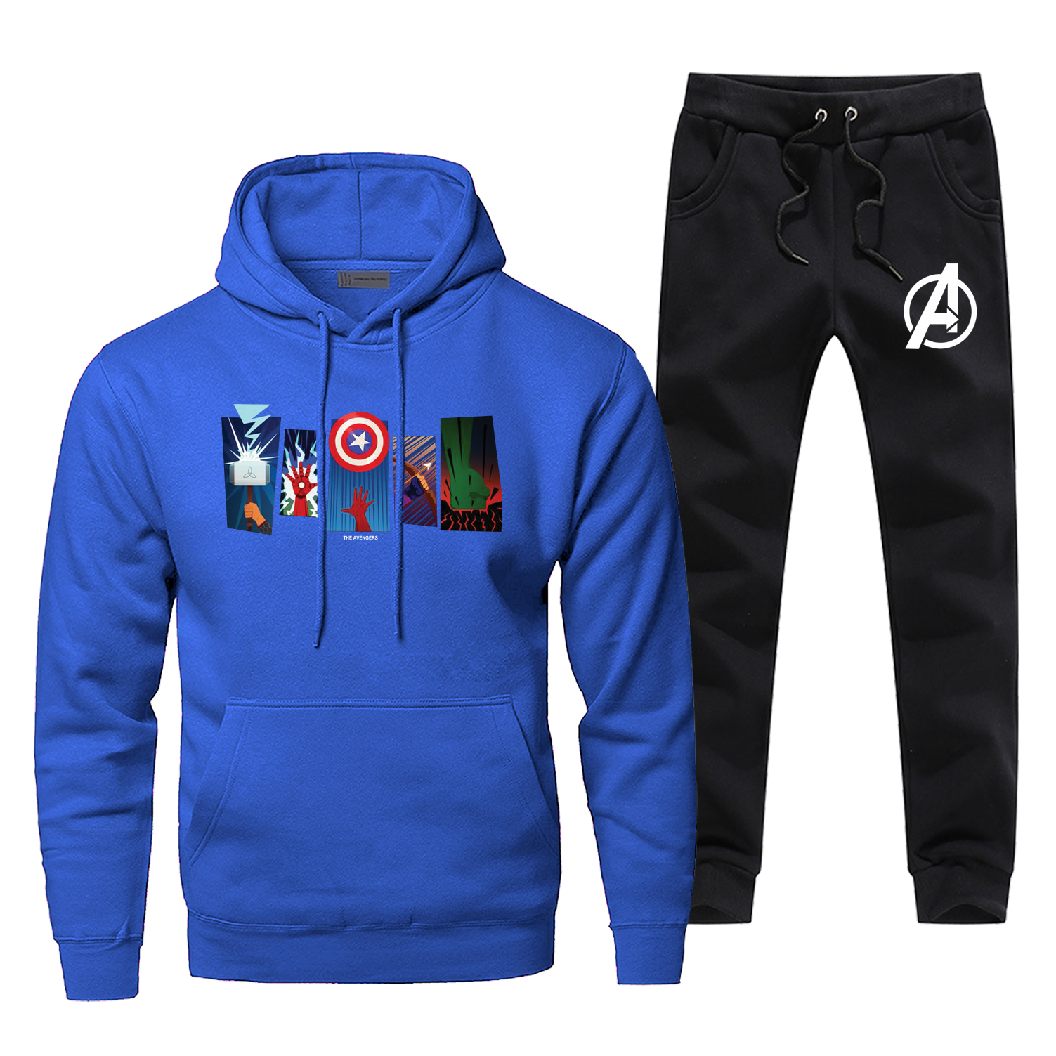 The Avengers Iron Man Complete Man Tracksuit Comfortable Fashion Men's Clothing Casual Fitness Sportsman Wear Hip Hop Male Sets