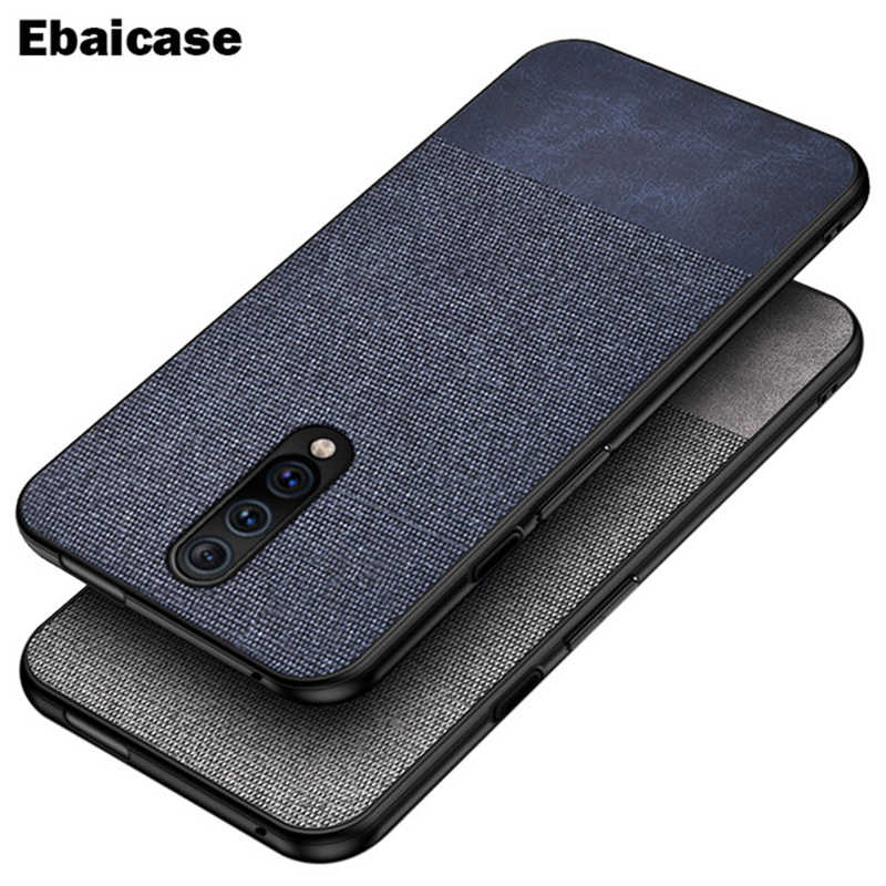OnePlus 7 Pro Case Shockproof Back Cover Cloth Fabric Silicone Soft Edge Protect Case OnePlus 6T 6 7 Pro Case OnePlus 6T Cover