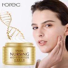 ROREC Snail Face Cream Hyaluronic acid Anti-Aging Wrinkles Age Spots Skin Tone Firming Dark Circles Whitening Pigment