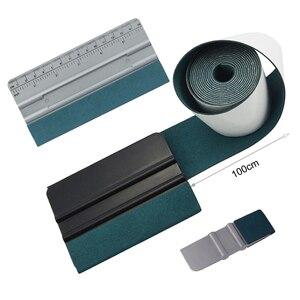 Image 1 - Foshio 100Cm Suede Vilt Tape Doek Carbon Fiber Wrapping Vinyl Zuigmond Geen Kras Glas Tint Plastic Schraper Cleaning Auto gereedschap