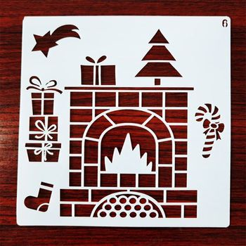 12 sztuk szablon szablonów świątecznych wielokrotnego użytku rzemiosło plastyczne na rysunek artystyczny Pai Dropshipping tanie i dobre opinie CN (pochodzenie) K1AB8YY102191