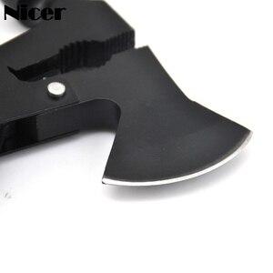 Image 4 - 14 ב 1 EDC Multitool פלייר מתקפל סכין טקטי הישרדות קמפינג חיצוני גרזנים צירים המקצץ פטיש מברג יד כלי
