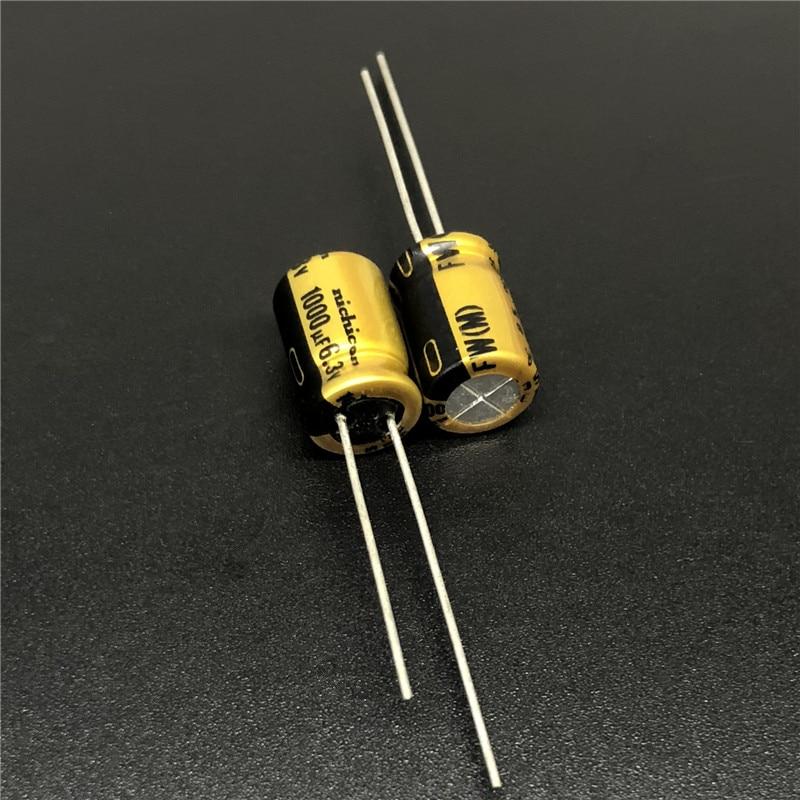 10pcs/100pcs 1000uF 6.3V NICHICON FW Series 8x11.5mm 6.3V1000uF HiFi Audio Aluminum Electrolytic Capacitor