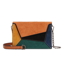 Fashion Quality Leather Patchwork Women Messenger Bag Female Chain Strap Shoulder  Small Criss-Cross Ladies Flap