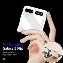 GKK Bright Painted Fold Case For Samsung Galaxy Z Flip Fold 2 Luxury Anti knock Protective Hard Cover For Samsung Z Flip Fold 2