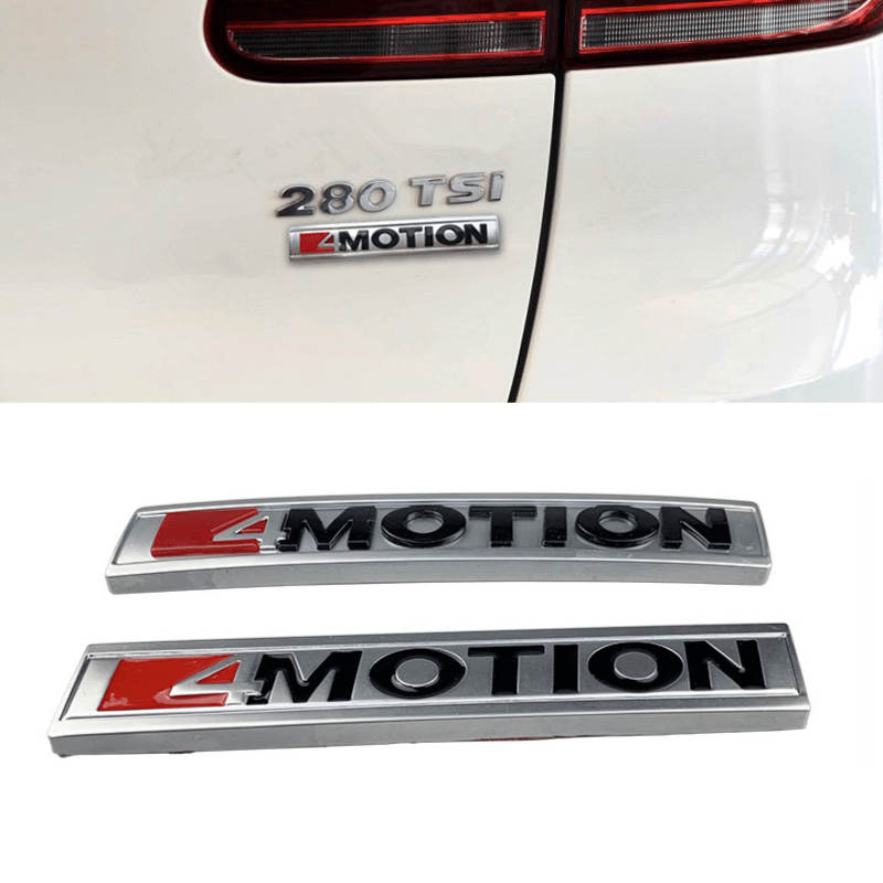 Car Styling 4 MOTION Emblem Car Rear Side <font><b>Stickers</b></font> Decals Exterior for <font><b>Volkswagen</b></font> Jetta Santana <font><b>Passat</b></font> <font><b>b5</b></font> Sagitar Scirocco image