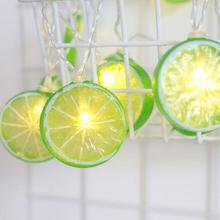 Lemon Garland LED String Lights Battery Light Fruits Tree Lamp Outdoor Lighting Patio Lights Christmas Holiday Party Decorations