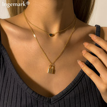 Vintage Multi Layered Women Tassel Chain Necklaces Sequin Gold Color Bohemia Fashion Long Pendant Choker Necklace 2021 Jewelry