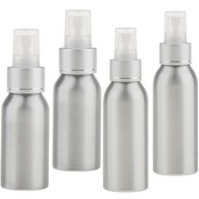 4pcs/set Empty Aluminum Refillable Spray Bottles w/ Fine Mist Atomizer Caps Sprayer for DIY Home Cleaning, Aromatherapy, Travel(China)