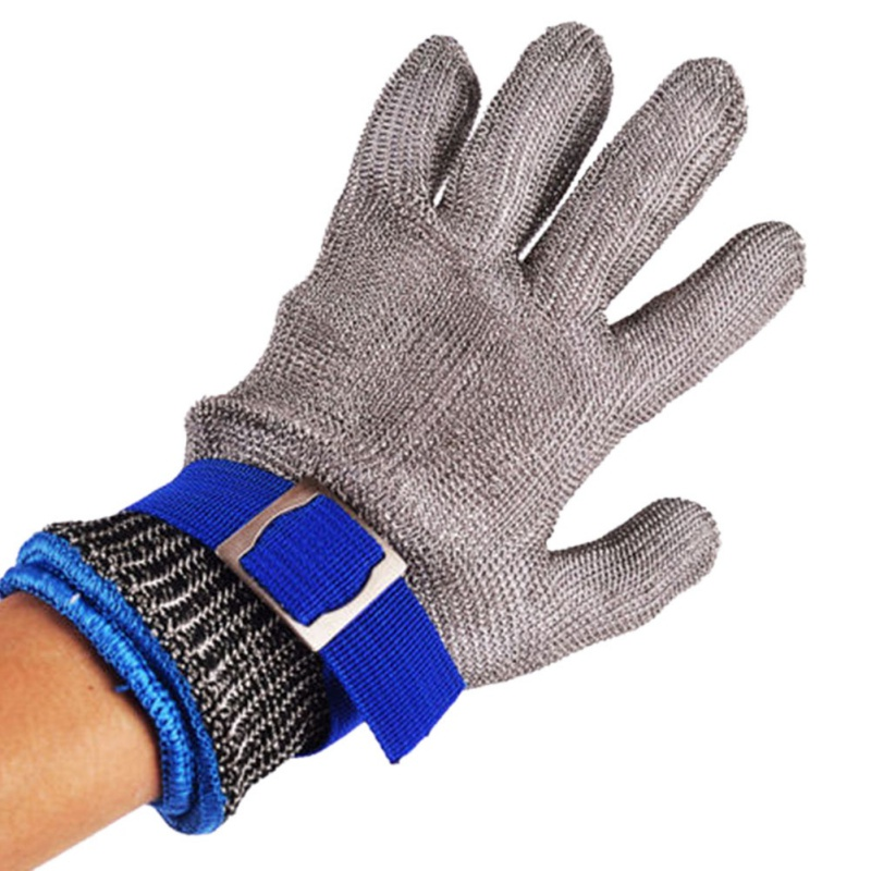 1PC Hot Sale Stainless Steel Grade 5 Steel Wire  PE Steel Ring Iron Gloves Wearing Left Right Mountain Outdoors  2018 Newest