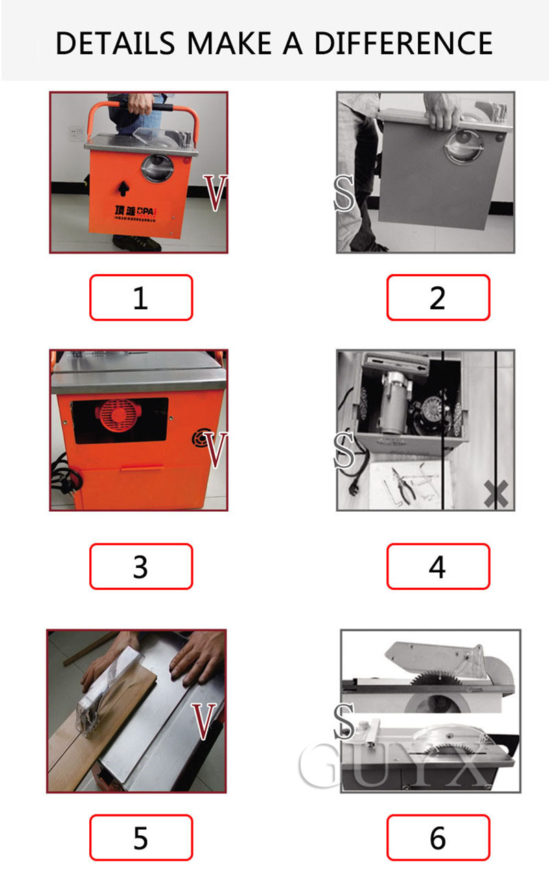 limpa pequena motosserra, máquina circular de corte de madeira