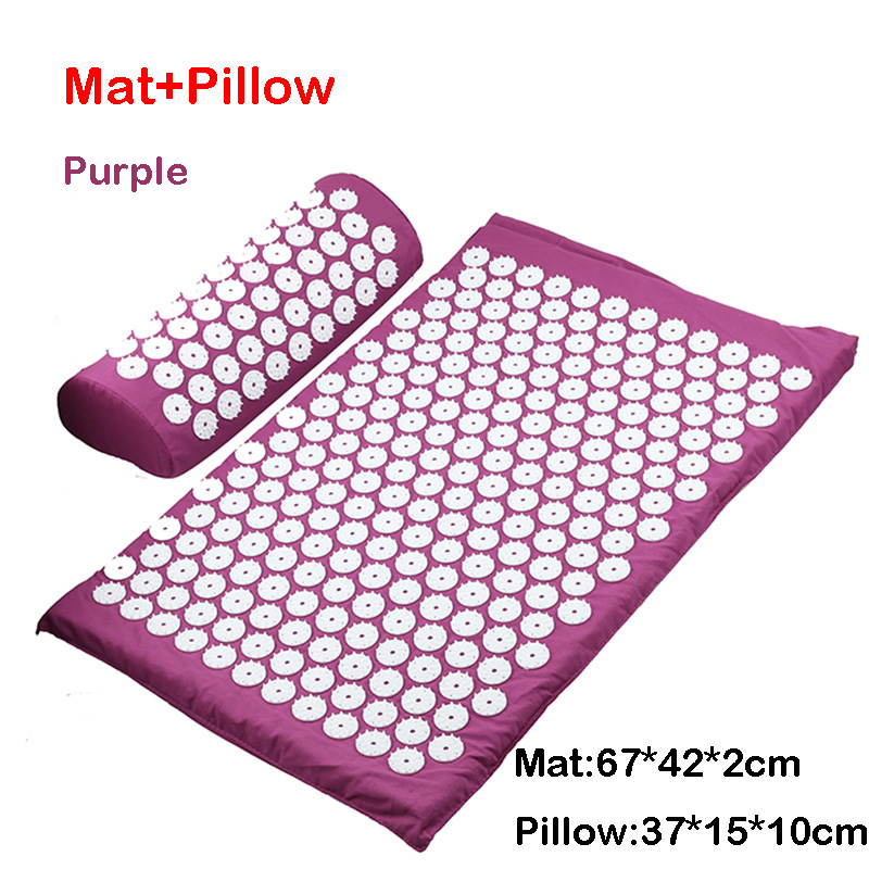Purple mat pillow